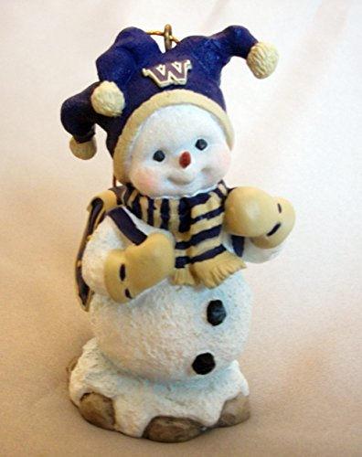 NCAA WASHINGTON HUSKIES FOOTBALL BASKETBALL SNOWMAN