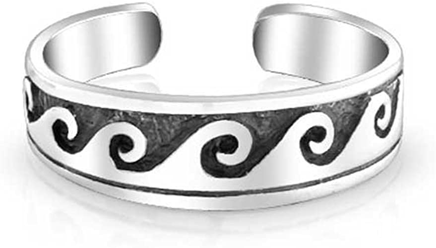 Braided Band Stylish Sterling Silver Toe Ring