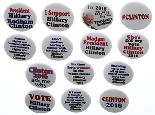 Set of 14 Hillary Clinton 2016 President Vote Support 1.25