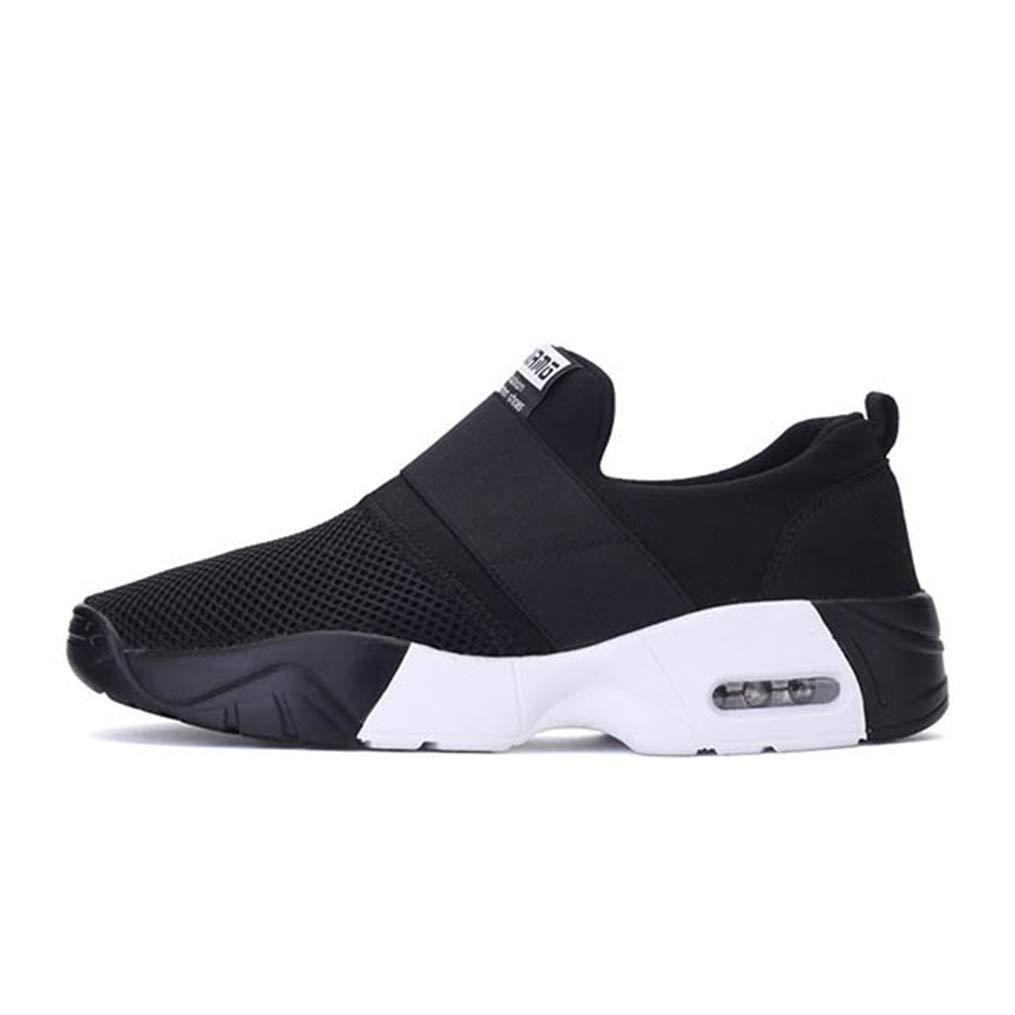 Black White Gcanwea Women Spring Designer Wedges Platform Sneakers Female Tenis Casual Air Mesh shoes Black White 6 M US