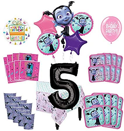 Vampirina Balloon Bouquet 5 pc 5th Birthday Hot Pink Number 5 Jumbo Balloon Viva Party Balloon Collection