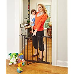 "North States Pet MyPet Windsor Arch Gate fits openings 28.25"" – 38.25"" wide and is 28.5"" high"