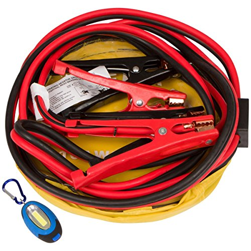 Safety Jumper Cables : Jumper cables with key chain safety flashlight booster