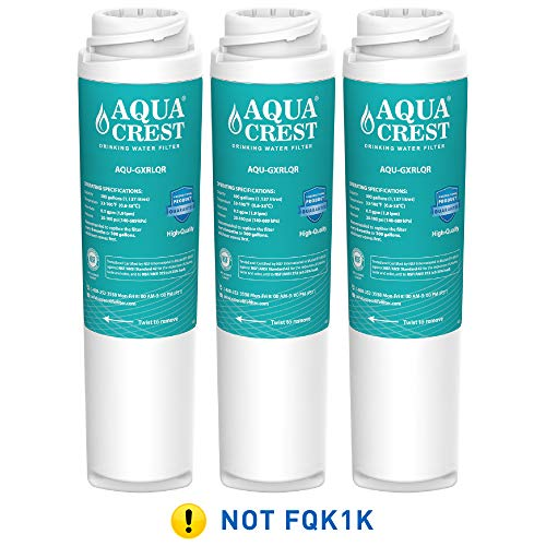 AQUACREST GXRLQR Inline Water Filter, Compatible with GE SmartWater Twist Lock In-Line GXRLQR Water Filter, Pack of 3