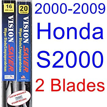 2000-2009 Honda S2000 Replacement Wiper Blade Set/Kit (Set of 2 Blades