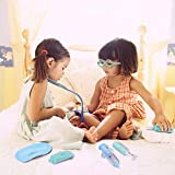 Hailey&Elijah Doctor Kit for Kids 26 Pieces Dentist Tool Kids Toy Doctor Kit + Grid Bag for School Classroom and Doctor Playset Costume Dress-Up