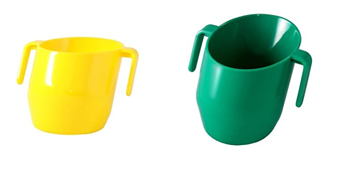 SOLID COLOUR 2 Cups Supplied Doidy Cup Bundle RED /& GREEN