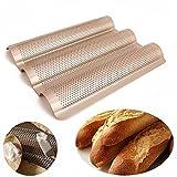 RoseSummer 1Pcs Carbon Steel Baguette Baking Pan Baguette Pan