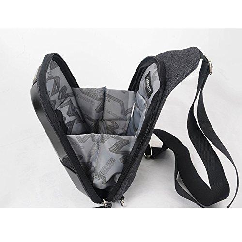 Sling Crossbody Shoulder Mens Bags Anbiwangluo Backpack Bag Black Chest Aqf5Rw