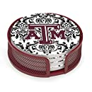 Thirstystone VTXAM4-HA22 Stoneware Drink Coaster Set with Holder, Texas A and M Pattern