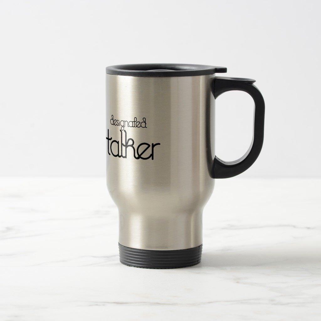 Zazzle designated Talkerマグ 15 oz, Travel/Commuter Mug 6569eb83-2318-1a0d-82d4-610206ba8cbd 15 oz, Travel/Commuter Mug ステンレススチール B077NQ278H