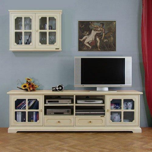 Mobile porta tv per parete soggiorno con vetrina pensile: Amazon.it ...