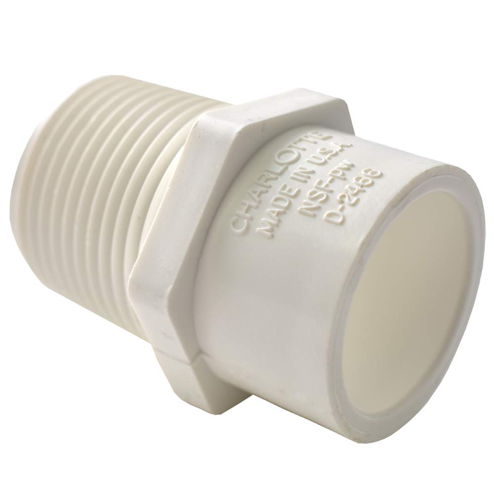 Easy to Install 25 Unit Box Reducer Charlotte Pipe 1//2 X 3//4 Male Adapter Pipe Fitting Male Pipe Thread x Socket and High Tensile for Home or Industrial Use Schedule 40 PVC Durable