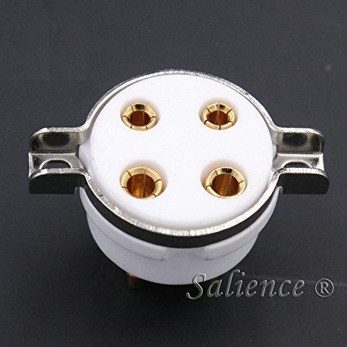 Galleon - 2Pcs Ceramic 4Pin Vacuum Tube Socket Valve Base For 300B