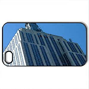 Empire State Building Picture 2 - Case Cover for iPhone 4 and 4s (Skyscrapers Series, Watercolor style, Black)
