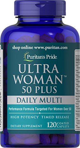Puritan's Pride Ultra Woman 50 Plus Multi-Vitamin-120 Coated Caplets