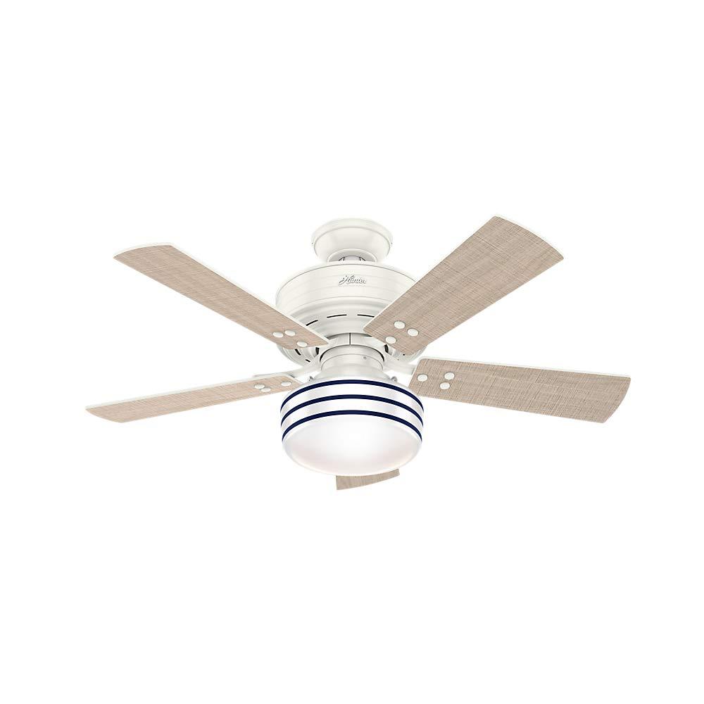 Hunter Fan Company 54148 Hunter 44'' Cedar Key Fresh White LED Light and Handheld Remote Ceiling Fan