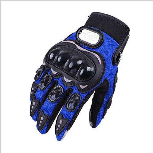 Motorcycle gloves breathable cloth warm cross-country ,outdoor sports Protective motorcycle gloves (Blue, XL)