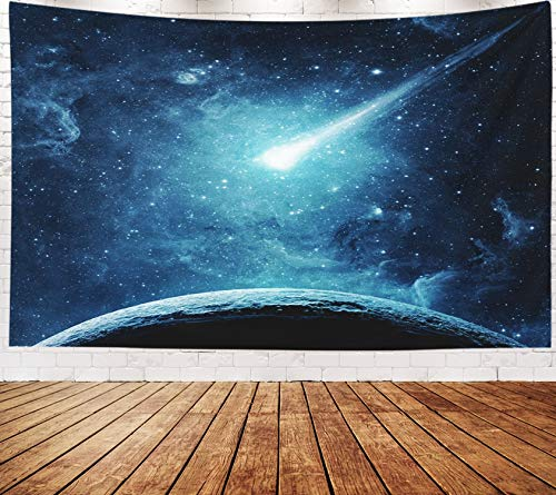 Yecationy Beach Tapestry, Tapestry Psychedelic Tapestry 80x60 Inch Planet Comet Galaxy Elements This Image Furnished by NASA Tapestry Wall Hanging Living Room Decoration Tapestries ()