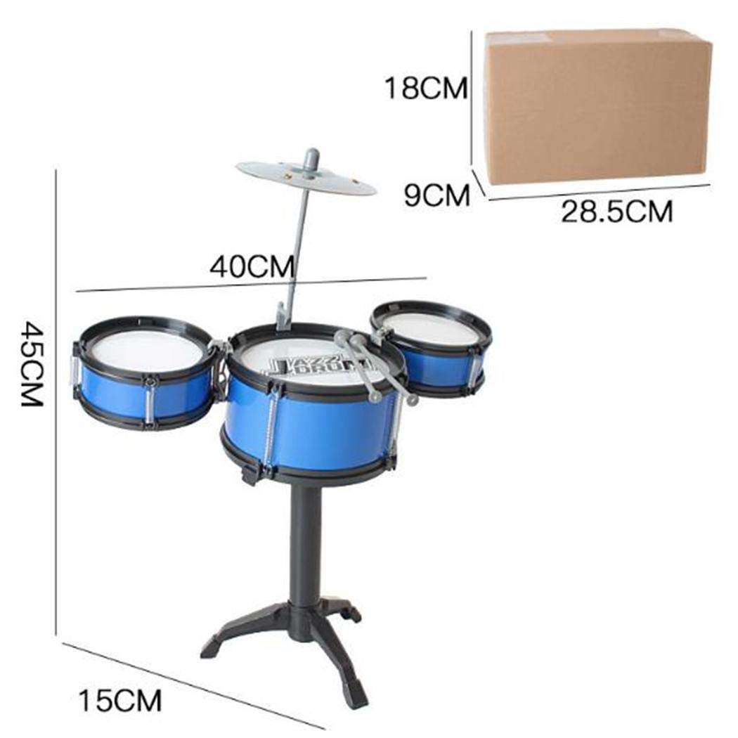 Cidere Kids Three Drum Set Children Percussion Musical Instrument Educational Toys Snare Drums