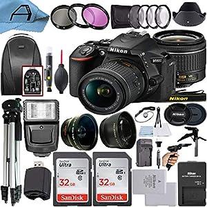 Nikon D5600 DSLR Camera 24.2MP Sensor with NIKKOR 18-55mm f/3.5-5.6G VR Len, 2 Pack SanDisk 32GB Memory Card, Backpack…