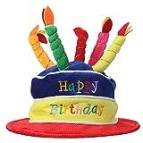 Home-X Plush Happy Birthday Cake Hat (Multi-Color)