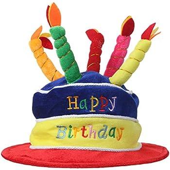 Amazoncom Beistle 60717 Plush Birthday Cake Hat Kitchen Dining