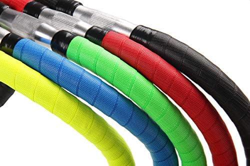 KINGOU Bike Handlebar Tape PU Anti-Skid Bicycle Bar Tapes with Adhesives End Plugs and Finishing Tapes