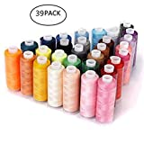Sewing Embroidery Thread 39 Colors, Assorted Colors Sewing Supplies High Quality Kit