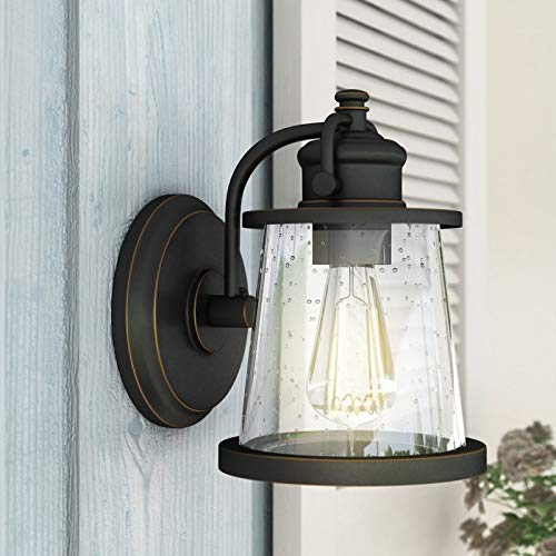 Outdoor Wall Sconce Dimmable LED Lights Lamp with Glass Shade Home Porch Walkway Balcony Lights