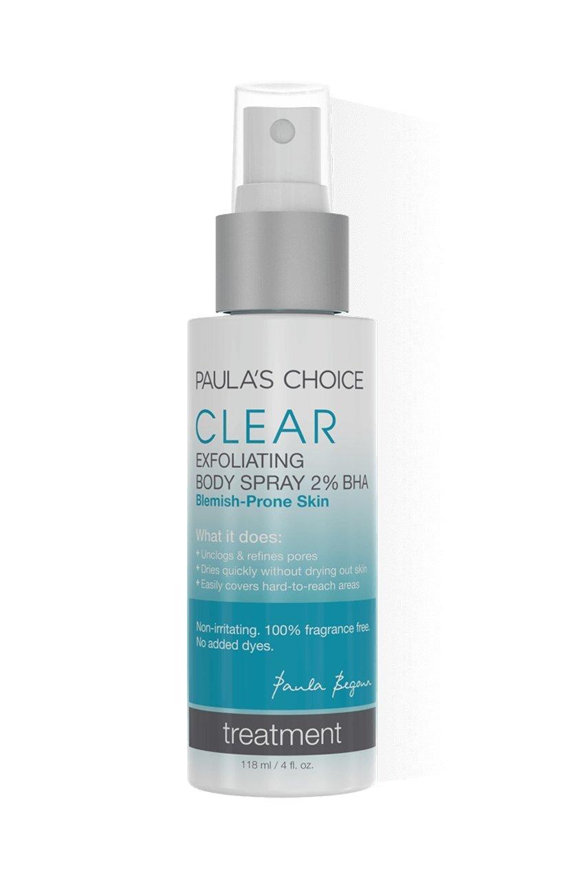 Paula's Choice Clear Exfoliating Body Spray with 2% Salicylic Acid (BHA) – Dark Spots, Blemish & Pimple Remover Body Spray – Skin Clarifying, Eliminating Clearing Spray - 118 ml / 4 fl. oz. Paula's Choice LLC