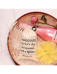 10 bolsas de regalo para damas de honor, kit de supervivencia para recuperación (4'' x 6') bolsas de regalo para dama de honor para fiesta de soltera o bachillerato de novia, bolsa de regalo, bolsa de muselina de algodón con cordón