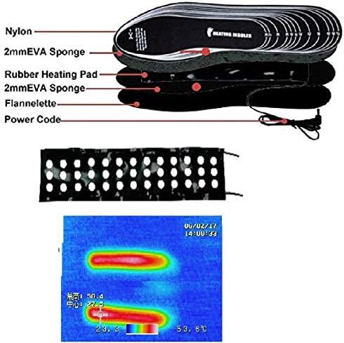 BSTOB Semelle int/érieure chauffante Semelles Thermiques /électriques Chauffe-Pieds Lavable USB Rechargeable Taille Coupable Semelle int/érieure Hiver Semelles Chaudes ext/érieures