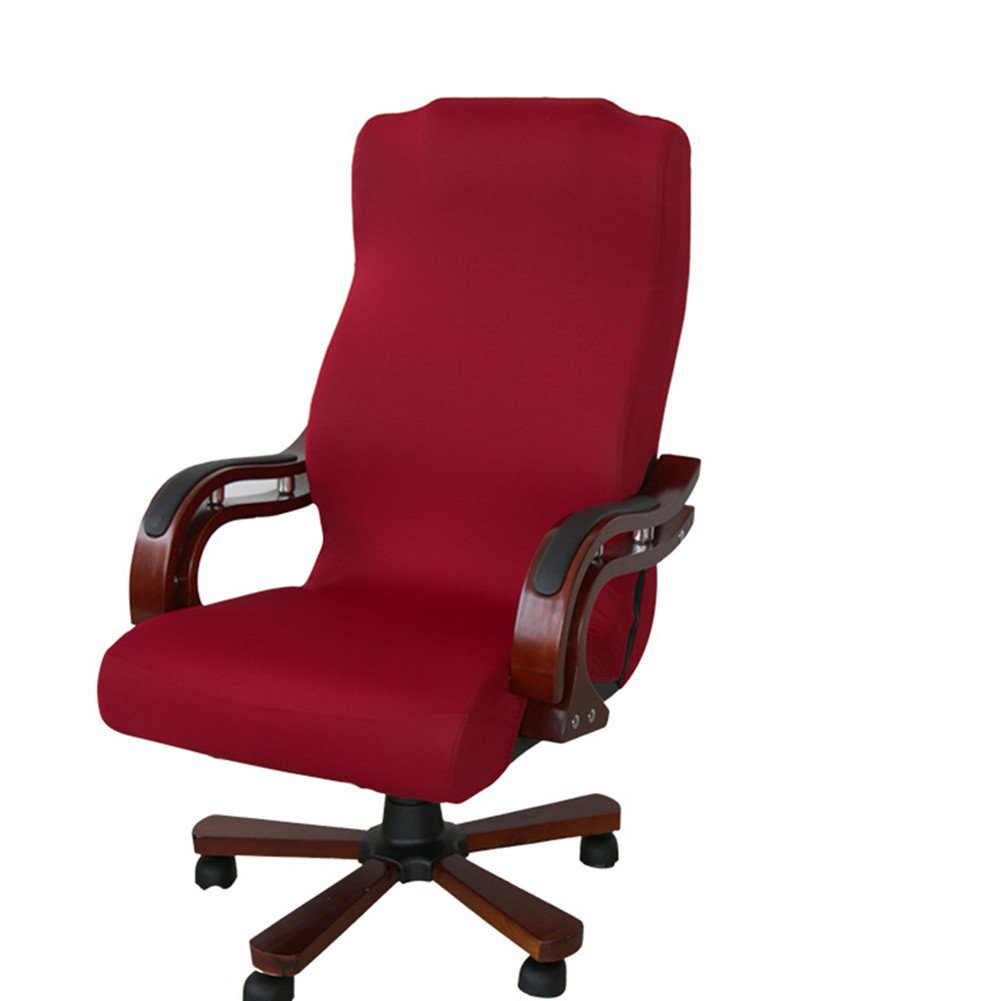 Gaeruite Stuhlhusse B/ürostuhl Schreibtischstuhl Drehstuhl Bez/üge S, Black Dehnbar Rotierenden Sessel Cover Schonbezug