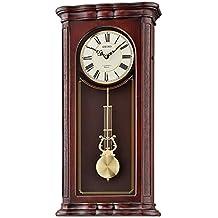 Seiko 'WALL-MUSICAL' Wood Shelf Clock, Color:Dark Brown (Model: QXM361BLH)
