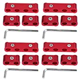 Acouto 12 Pcs Spark Plug Wire Separator 8mm 9mm 10mm Engine Wire Divider(red)