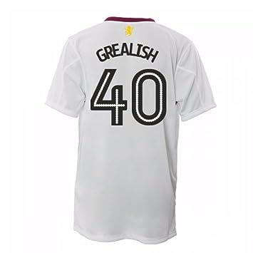 c587e5c53 2016-17 Aston Villa Away Football Soccer T-Shirt (Jack Grealish 40)   Amazon.co.uk  Sports   Outdoors