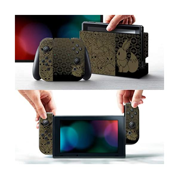 Controller Gear Nintendo Switch Skin & Screen Protector Set - Pokemon - Eevee Evolutions Set 1 - Nintendo Switch 2