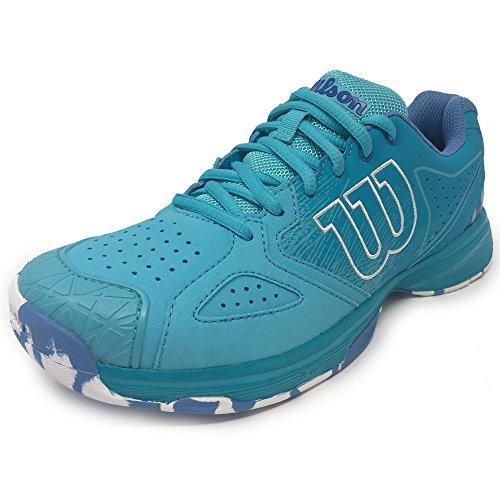 Wilson–Zapatillas de tenis Kaos DEVO Mujer (Azul Claro), 5 Azul