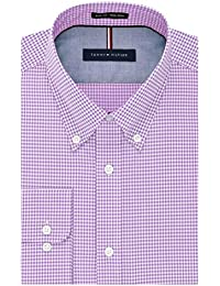 Men's Non Iron Slim Fit Gingham Buttondown Collar Dress Shirt