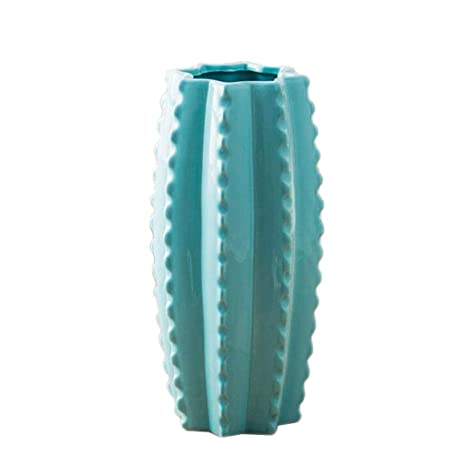 Jarrones Florero Azul Decoración de cerámica Fresca Creativa ...