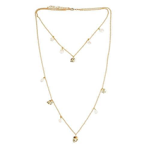 f63cf76b4eba LuckyLy – Collares Largos - Collar Madeleine – Cadena Acero Inoxidable con  Baño Color Oro –