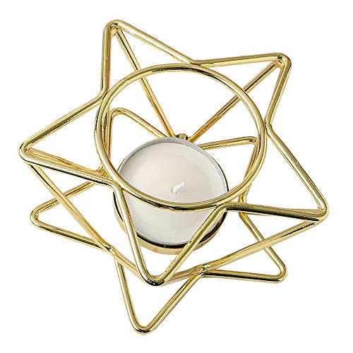 - Fashioncraft 27 Celestial Themed Star Shaped Gold Wire Tealight Votive Candle Holders Garden Lights Decorations for The Home Centerpiece Lantern