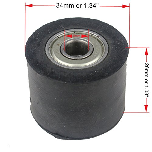 Wingsmoto Chain Roller 8mm ID Tensioner Guide Wheel For Chinese Dirtbike Pit Bike Motorcycle - Chain Tensioner Roller
