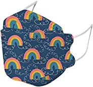 20PCS Kids Rainbow Prints Disposable Mask 4Ply Non-woven Outdoor Fish-Shape Anti-Fog Dust-Proof Covers Childre