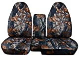 ford ranger seat cover camo - 2004 to 2012 Ford Ranger 60-40 Camouflage Truck Seat Covers Solid Armrest Cover Included (Dark Tree Camouflage)