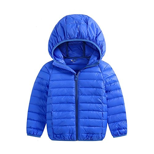 Size Baby Coats Baby Lightweight Boys Hoodie Winter Pink Kids Girls 3T blue 2 Down Packable Fairy Jacket 1qxwPq