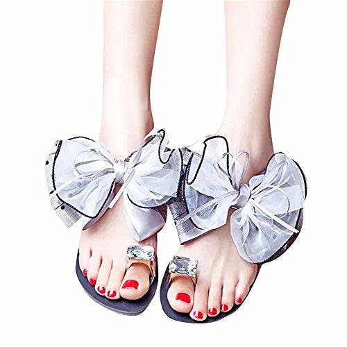 YUCH Y Pies Taladro Mujer Dedos De Sandalias Encaje De Los Zapatillas De De Agua Los Gray gq1Hrgzn