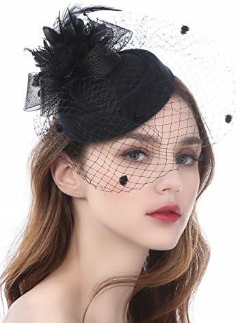 Zivyes Fascinator Pillbox Headband Headwear