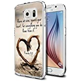 Galaxy S6 Case Samsung Galaxy S6 Case TPU Non-Slip High Definition Printing Quote Proverbs 4:23 Above all else, guard your heart,for everything you do flows from it.